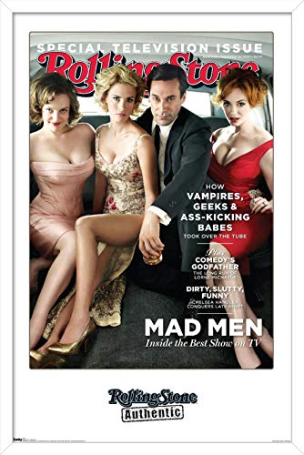 Trends International Rolling Stone Magazine - Mad Men 10 Wall Poster, 22.375' x 34', White Framed Version