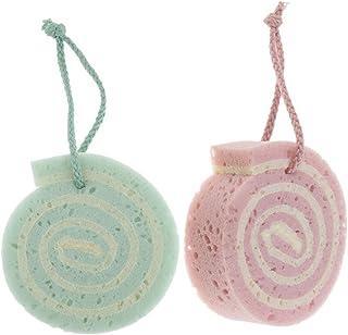 D DOLITY 2X, Creative SPA Beauty Bath Sponge Body Puff Scrubber, Premium Quality Exfoliating Skin for Children Kids