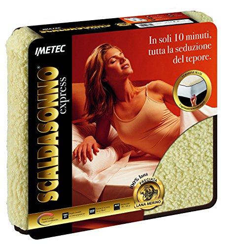 Imetec Maxi Express 6811, Scaldasonno Matrimoniale in Pura Lana Merino