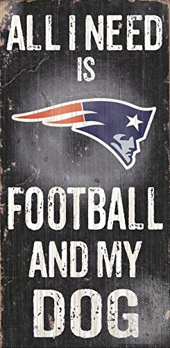 Fan Creations N0640 New England Patriots Football and My Dog Sign