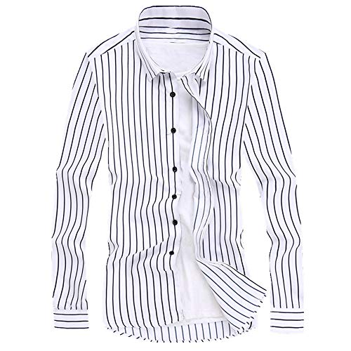N\P Camisa de verano para hombre de manga larga ajustada