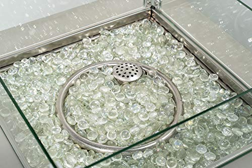 ACTIVA Glassteine, 9 kg, Feuersteine, Glas für Feuerstelle, Feuerglas für Gasfeuerstelle Asano