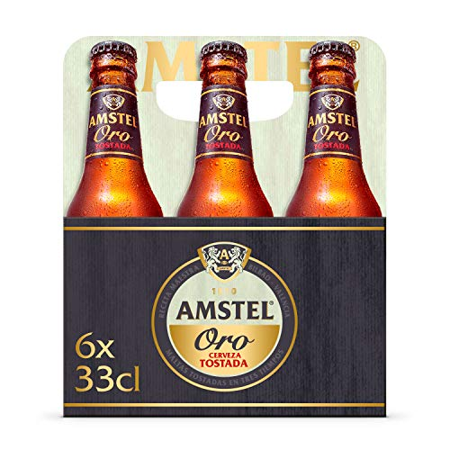 Amstel Oro Cerveza - Pack de 6 Botellas x 330 ml (Total: 1.98 L)