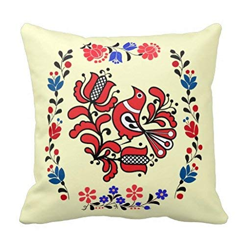 Gorgeous ornaments Opus Hungarian Flower and Bird Embroidery Pillow Case 18\