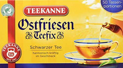 Teekanne Ostfriesen Teefix Tassenportionen 50 Beutel, 4er Pack (4 x 75 g)
