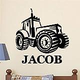 JXWH Tractor niños vinilos Infantiles vinilos niño habitación vinilos extraíbles 58 X 60 cm