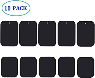 Chanfee 10Pack Metal Plate for Magnetic Phone Car Mount Holder Cradle with Strong Adhesive