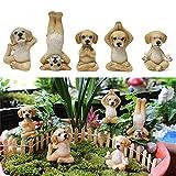 Beifeng Adorable figurine de chien de yoga personnalisée en résine pour pot de fleurs