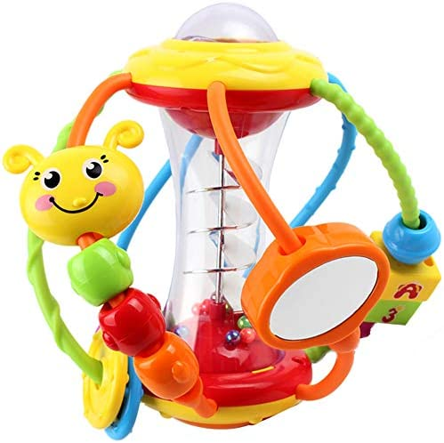 Yiosion Baby Rattle Set Activity Ball Shaker Grab Spin Rattle Early Educational Learning Sensory product image