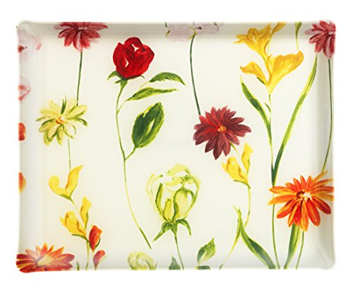 Platex 4046361134 Plateau Acrylique Flower, Rouge, 46 x 36 x 2 cm