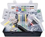 2200 pcs Electronic Component Assortment, Capacitors, Resistors, Transistors, Inductors, Diodes, Potentiometer, IC, LED and PCB