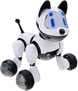 Hstore🌸Multifunctional Intelligent Voice Control Induction Robot Dog Voice Recognition Electronic Toy Dog Puppy Music Shine Action Toy US Stock