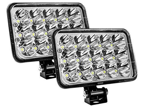 Par de Faros LED 5 pulgadas 45w Luz Concentrada Blanca de 15 led
