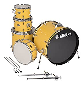 "Yamaha Rydeen 5pc Shell Pack with 22"" Bass Drum, Mellow Yellow"