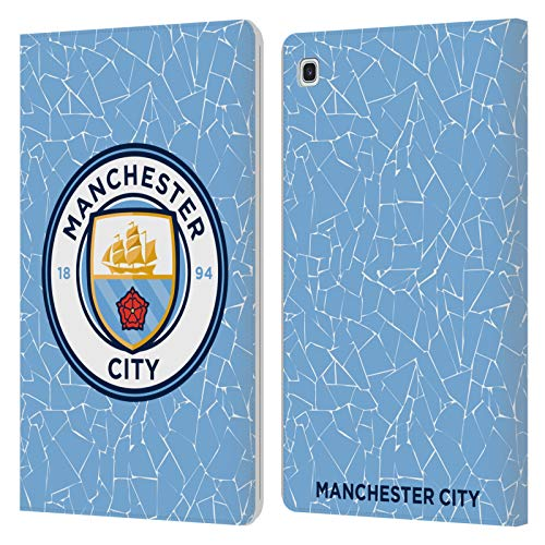 Official Manchester City Man City FC Home 2020/21 Badge Kit Leather Book Wallet Case Cover Compatible For Samsung Galaxy Tab S5e