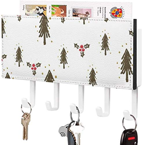 Estante para llaves pequeño - Porta llaves, Gancho para llaves montado en la pared, Ilustración de puntos de murciélago con linterna de calabaza con tema de Halloween, Porta correo de entrada a la pa