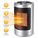 Space Heater, 1500W Electric Ceramic Portable Heater Fan Heater with Adjustable Thermostat and Oscillation,Quick Heat Up Personal & Quiet Heater for Office Room Desk Indoor