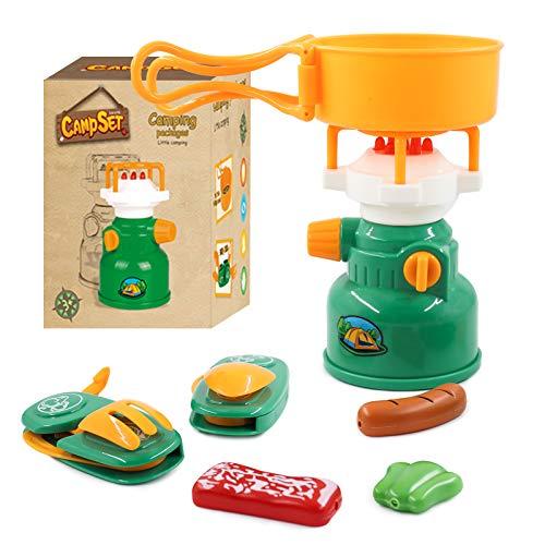 PHYLES Cocinar juguetes, juguetes para niños, 7 unidades de camping, juguetes para aventureros, interior y al aire libre, juguete de rol, juguetes educativos para niños de 3 años +
