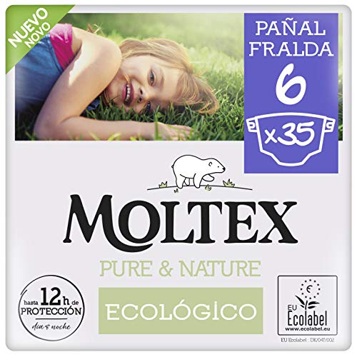 Pañales Moltex Pure & Nature T6 (17-28 kg) 35 Uds