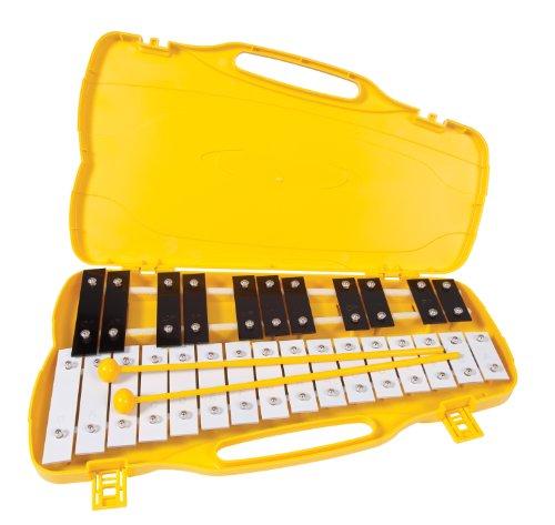Performance Percussion G4-A6 - Metallofono a 27 bacchette, colore bianco/nero