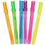 com-four® 6X Seifenblasen-Stab - Seifenblasenschwert - große Seifenblasen für Geburtstage, Gartenpartys und Hochzeiten - 34 cm (06 Stück - 34 cm)