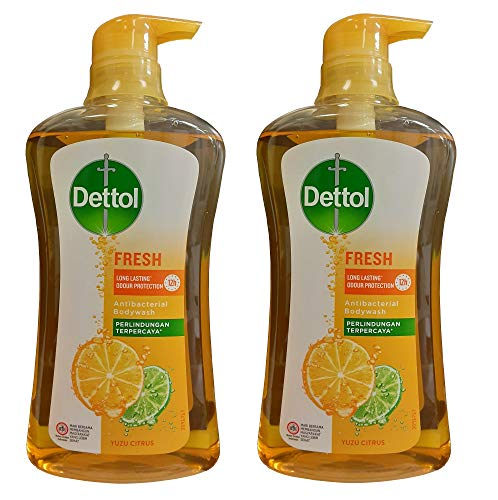 Dettol Anti Bacterial pH-Balanced Body Wash, Fresh, 21.1 Ounce/625 Ml (Pack of 2)