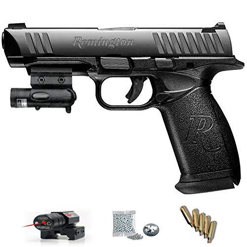Remington RP45 Crosman Pack Pistola de Aire comprimido (CO2) y balines de Acero (perdigones BBS) Calibre 4.5mm. Réplica de RP9 <3,5J
