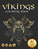 Viking coloring book: Nordic Warriors, Berserkers, Valhalla Runes, Spears and Shields (Adult Coloring Pages)