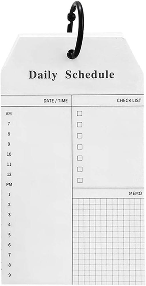 4PCS Petit Cahier /à Spirale Blanc Mini Bloc-notes Journal Intime Agenda Carnet de Planification Semainier Quotidienne M/émo Liste 14 Agenda Calendrier Portable Journalier Cahier Plan de Temps 8CM