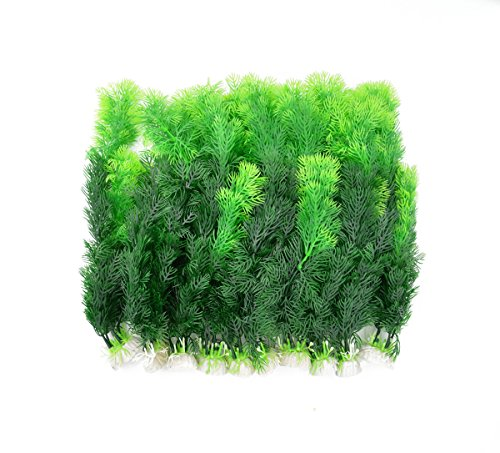 CNZ Aquarium Decor Fish Tank Decoration Ornament Artificial Plastic Plant Green 10pcs Grass 12-inch
