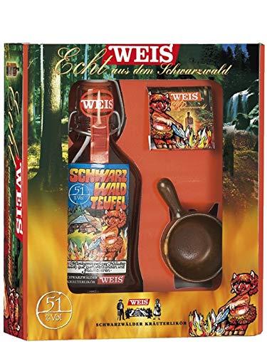 Elztalbrennerei Georg Weis Schwarzwald Teufel Flambierpacket klein 0,2 Liter