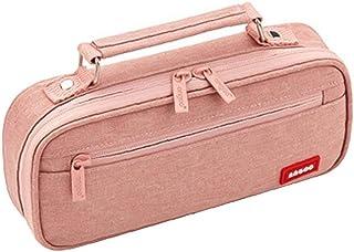 NiceCore Trousse grande capacité toile portable Pen Pouch multiple Compartiment Double fermeture à glissière école Cosmeti...