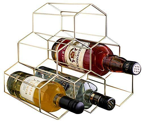 YCOCO Weinregal, freistehend, für 6 Flaschen