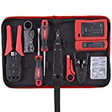 Kit de herramientas de red Ethernet LAN RJ11 RJ45 Cat5e TV Cable Tester Crimp Stripper Tool Set