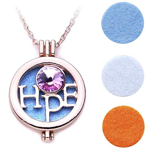 Hope Pendant Necklace Picture Frame Necklace Aromatherapy Women Necklace Comfortable and Environmentally
