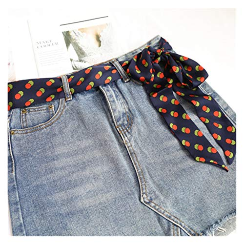 Cinturón para mujer Cinturón de las señoras Bufandas de la cintura Street Snap Fashion Strip estrecho ACCESORIOS ACCESORIOS CHEQUES DE PELO CADENA Bolsas de impresión Cintura Cinta Decoraciones