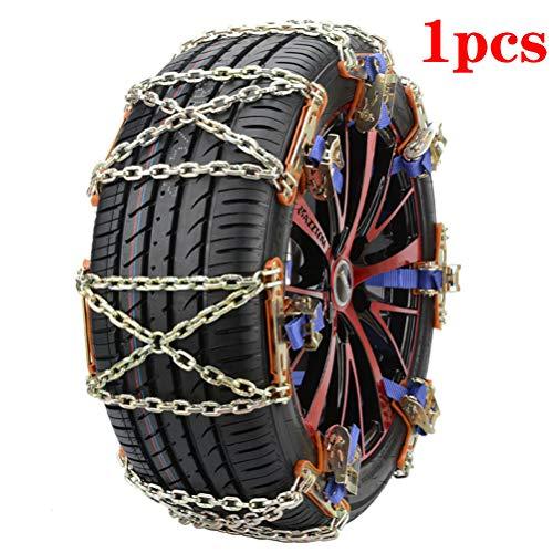 EVR Chaînes de Neige de Pneu résistantes à la Corrosion de 1PC antidérapantes faciles à Adapter lhiver, pour Adapter Le Camion SUV de Voiture 34 * 15cm
