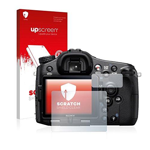 upscreen Schutzfolie kompatibel mit Sony Alpha 77V (SLT-77V) – Kristallklar, Kratzschutz, Anti-Fingerprint