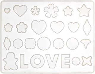 Ready Shop go 26 Slot Gem Jewelry Silicone Mold Mould with Hole Oval Heart Shape for Polymer Clay Crafting Resin Epoxy Pen...