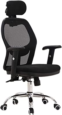 LJFYXZ Executive Office Chair Ergonomic Computer Chair Adjustable headrest and armrest Boss Chair Lumbar Support with tilt Function Load-Bearing 130kg (Color : Black)
