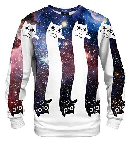 Mr Gugu & Miss Go Herren Damen Bedrucktes Sweatshirt Infinity and Beyond (L)