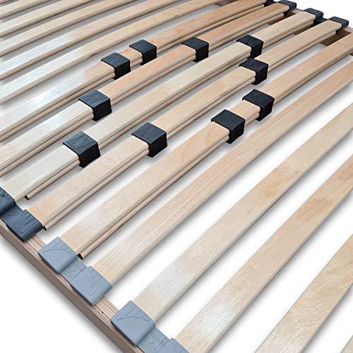 Coemo Stabiler 7-Zonen Lattenrost Basic starr 90 x 220 cm 32 Leisten -Nicht verstellbar- Duo-Kappen