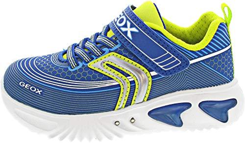 Geox Zapatillas deportivas para niño Assister Boy, plantilla suelta, luz intermitente, color Azul, talla 26 EU