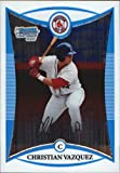 2008 Bowman Chrome Draft Prospects Refractors #BDPP25 Christian Vazquez DP - Boston Red Sox (Draft Pick - RC - Extended Rookie Card Parallel). rookie card picture