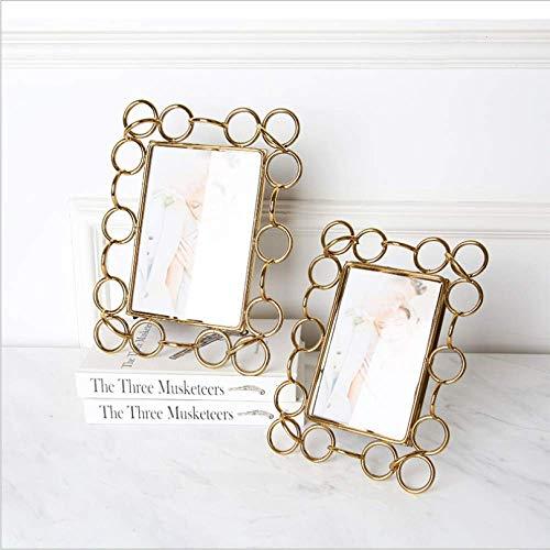 Luxe licht, galvanotechniek, goudkleurig, metalen ring, voor bruiloft, creatief handwerk, cadeau, woonkamer. 22.5*17cm