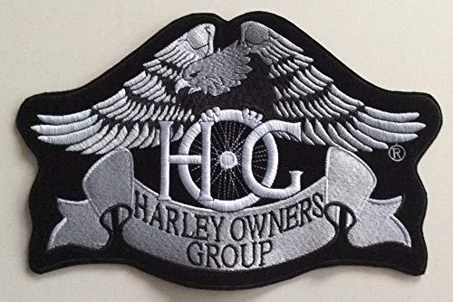 Generico Grande Toppa Patch Aquila Hog Argento Harley Davidson