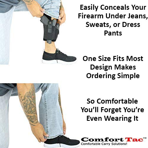 8. ComfortTac Ankle Holster with Calf Strap and Spare Magazine Pouch