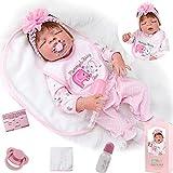 ZIYIUI 23 Pouces Poupée Réaliste Reborn Poupee Reborn Corps Silicone Fait à La Main Bebe Reborn Fille bébé Reborn Pas Cher