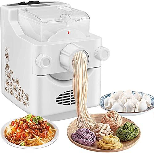 Kacsoo Macchine per pasta elettriche 220V Automatico Domestico Multifunzionale Tagliatella che fa macchina Casa Piccolo Verticale Pressa elettrica con 9 tipi di stampi per noodle
