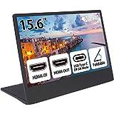 GeChic モバイルモニター On-Lap M505E 15.6インチ フルHD(1920x1080)液晶 USB Type-C/HDMI ハイブリッド映像入力 HDMI出力 IPS液晶 ブルーライト軽減 在宅ワーク用